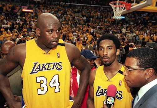 Watching old games this AM & while some duos technically had more 'success' if were measuring off titles...  Think I'm taking this duo in any era; against anyone. It's kind of crazy they were together near their respective peaks and the only thing really stopping them was... them