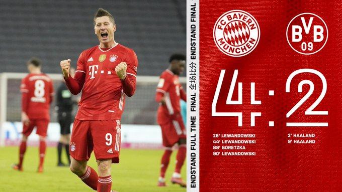Hasil akhir Bayern Munchen 4-2 Borussia Dortmund