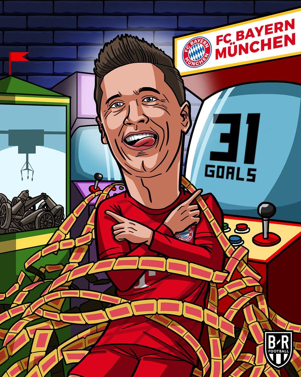 Hat-trick vs. Dortmund. 31 goals in just 23 Bundesliga games this season. Robert Lewandowski is unstoppable 🤯