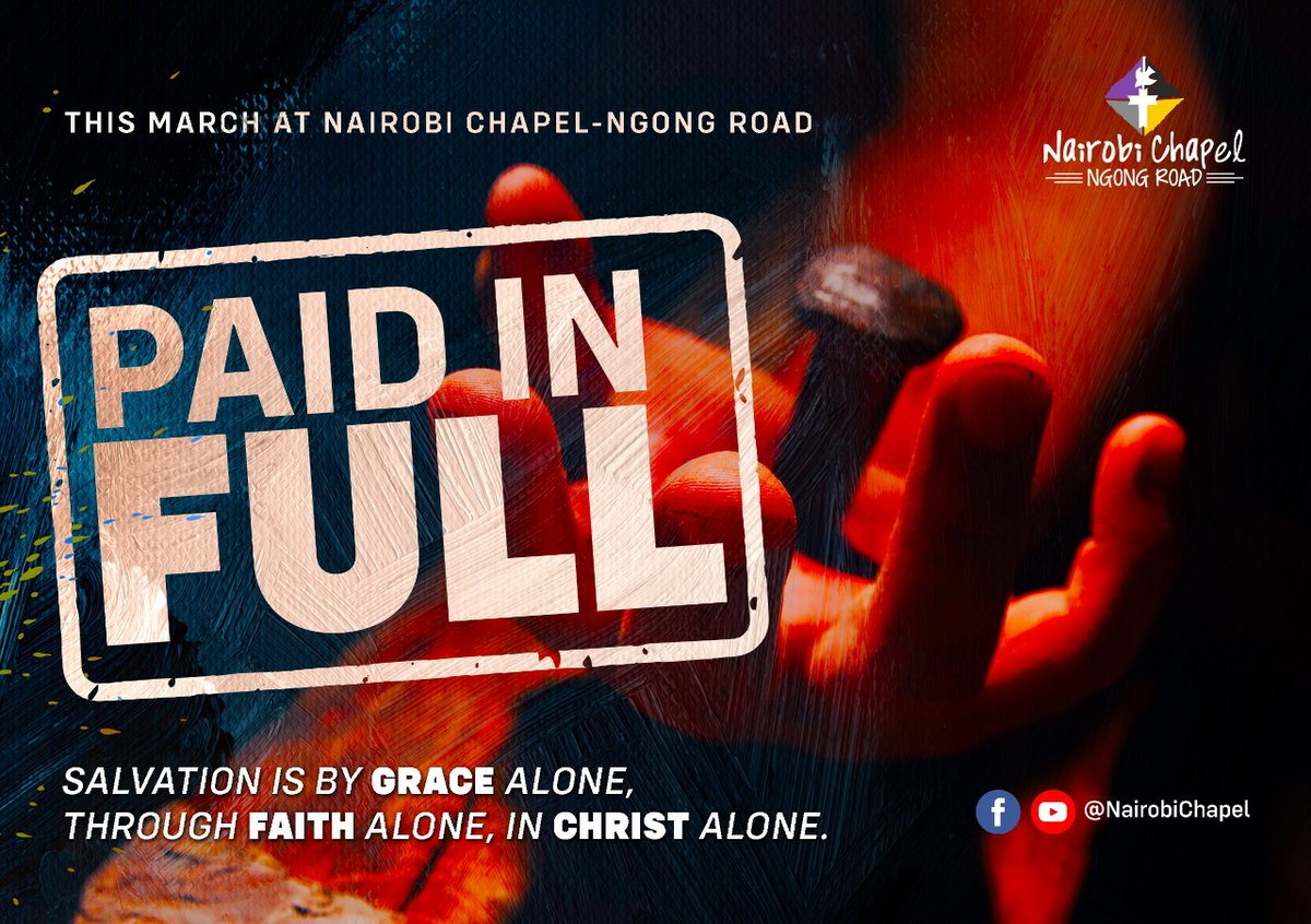 We thank God for March as we begin a  new sermon series #PaidInFull will be based on the book of Galatians that will be led by Rev. Liz  and Pst. Janet Mutinda. It is for freedom that Christ has set us free Stand firm then, do not let yourselves be burdened by the yoke of slavery