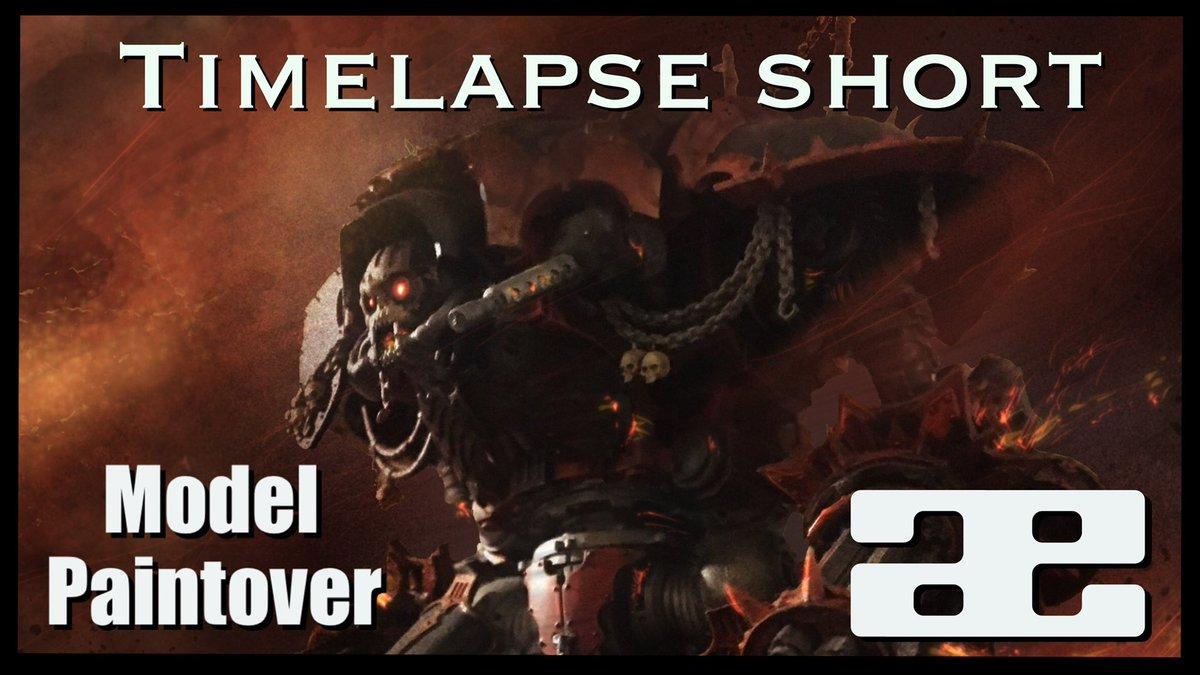 40k Chaos Titan Paintover Timelapse #short  via @YouTube