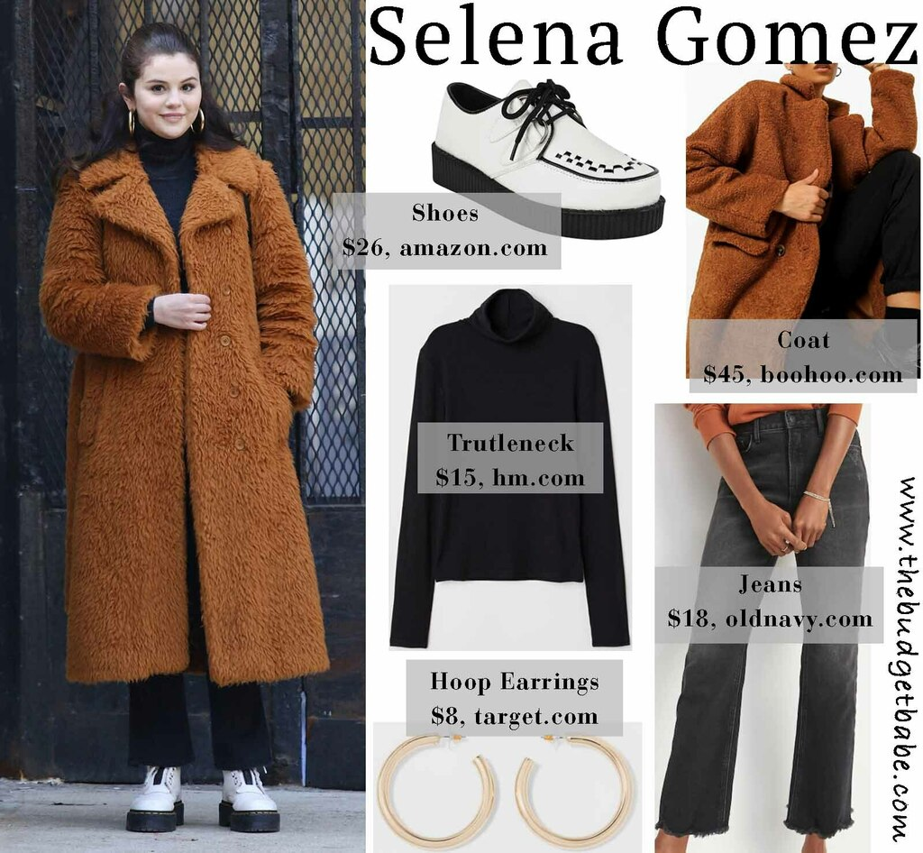 #DMTBautySpot Selena Gomez's Teddy Bear Overcoat and Creeper Shoes Look for Less #hair #fresh #vibe #newlook via  #trends #wow #fade #beauty #dmtbarber #nyc #ny #queens #blackowned #blackbusiness #dmtbarbershop #hi #aw