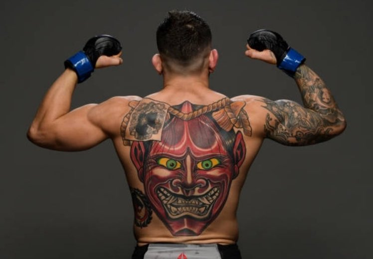 Why does this man have a tattoo of my sleep demon? #UFC259