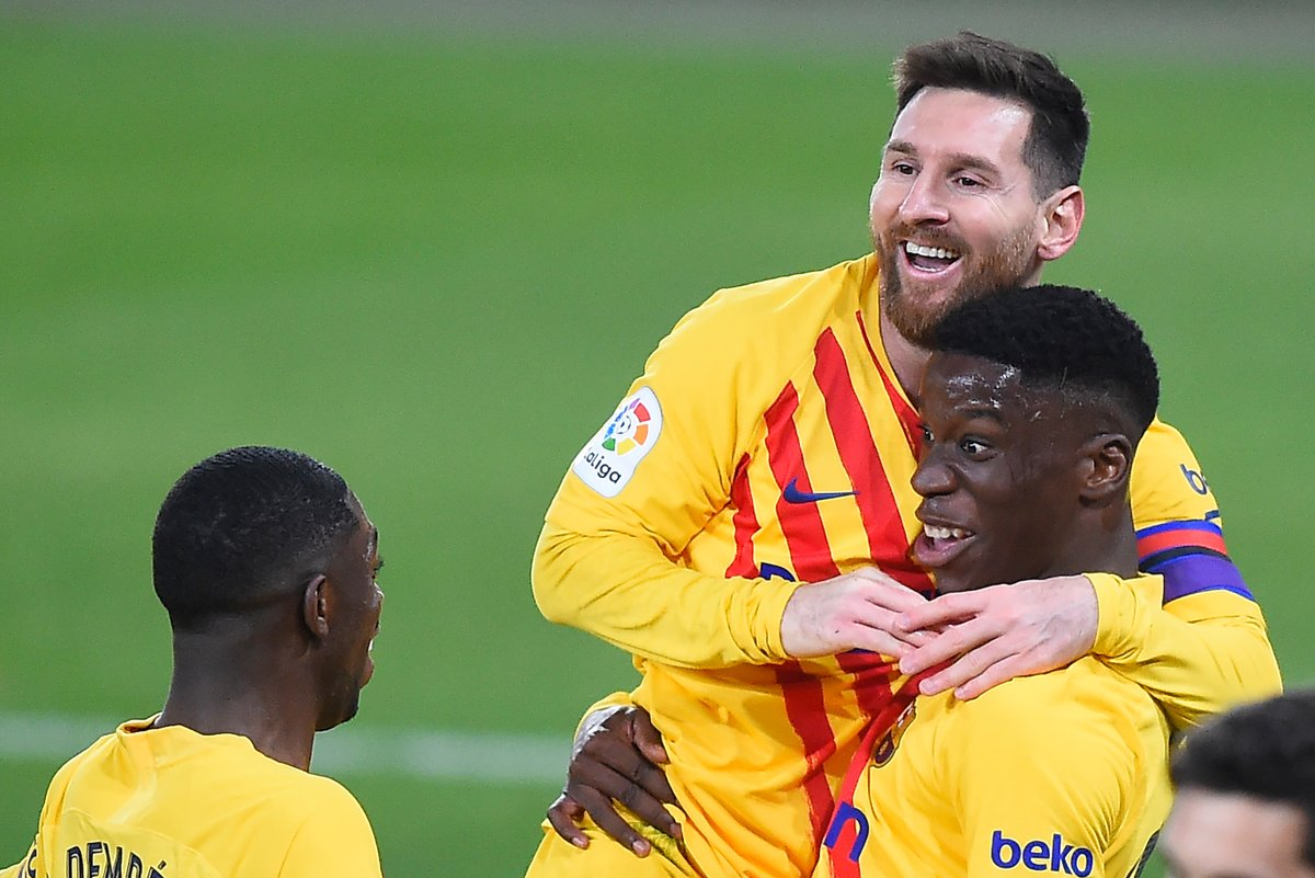 Two assists for Lionel Messi while Ilaix Moriba becomes the fifth youngest Barcelona goalscorer in Liga history. 👏👏   #UCL