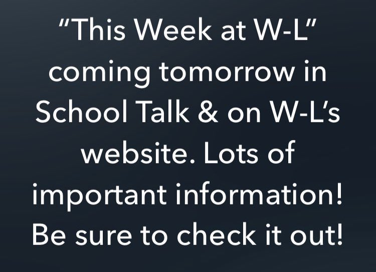 RT <a target='_blank' href='http://twitter.com/Principal_WLHS'>@Principal_WLHS</a>: 9th Grade In-Person learning this week and MORE! <a target='_blank' href='https://t.co/AikBHTz9a2'>https://t.co/AikBHTz9a2</a>