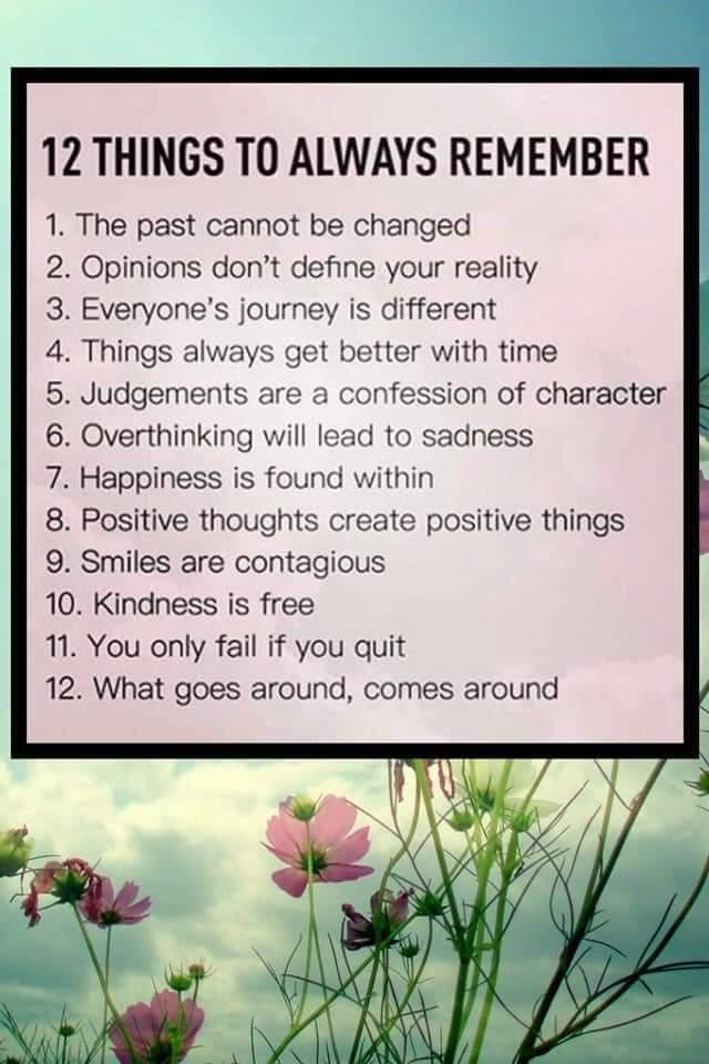 Great list! #quoteoftheday #life #LifeGoesOn #MotivationalQuotes #sundayvibes #ThinkBigSundayWithMarsha