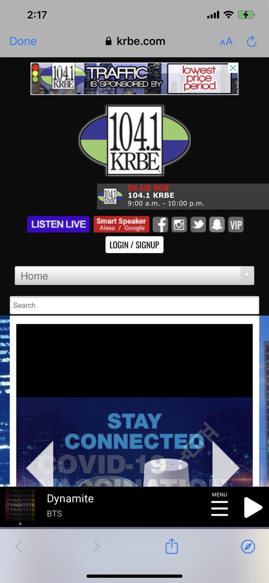 HUGE THANK YOU TO KRBE @krbe the #1 radio station in Houston knows the best and plays #Dynamite always my all time favorite song🧨📻💜💜🙏 Much appreciated🙏💜  Hello @TylerJFrye are you on the studio now? Think i heard you😉🤗  @BTS_twt @BTSonShazam @BorahaeFunds @BTSxTexas__