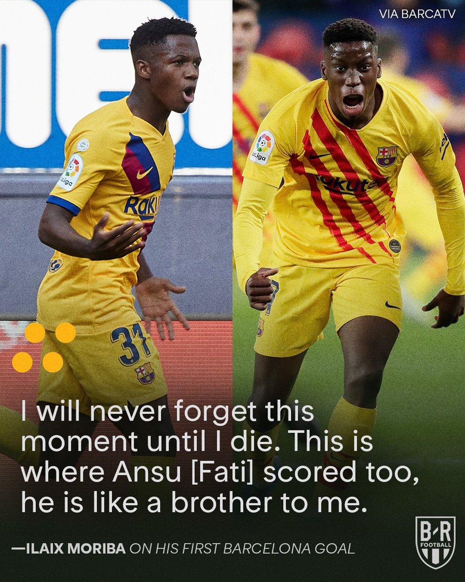 Ansu Fati and Ilaix Moriba both scored their first Barcelona goals at Osasuna 🤝
