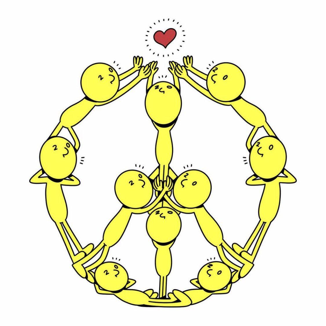 Keep searching for it ☮️💛  #illustration #cartoon #peace #peaceful #peacesign #love #pomi #pomi240