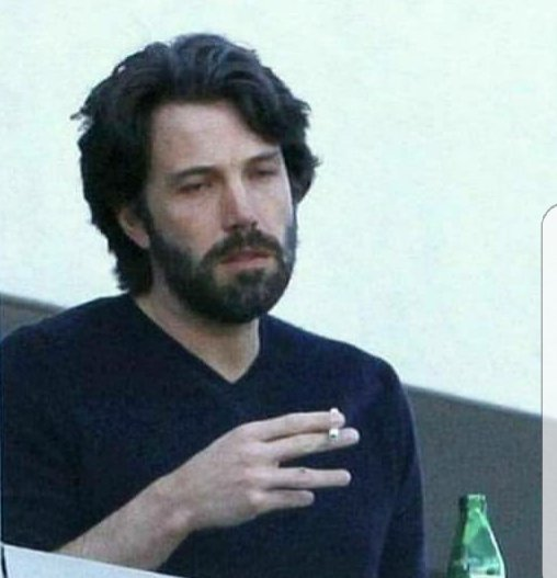 So, being in your mid 20s, 6+ months of therapy that's suppose to help me become mentally and emotionally independent has equaled to a conversation in speaking about how I handle feelings and now I feel nothing but that one Ben Affleck picture. https://t.co/cu0M6X1Zg3
