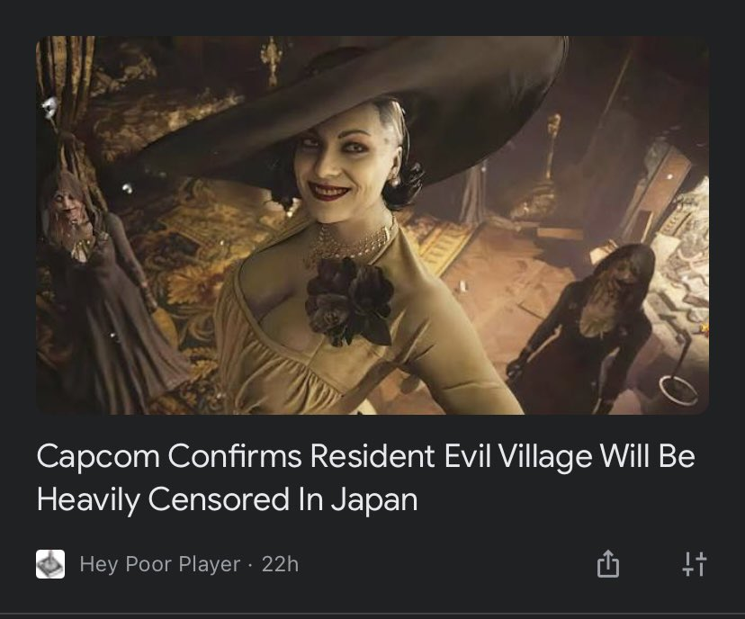Yes, Japan censors violence and embraces sexuality while the US generally censors sexuality and embraces violence. This isn't news lol. #ResidentEvilVillage #ResidentEvil #tallvampirelady