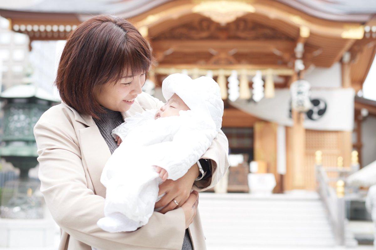 昨日個展の前に撮影してきました❤️ #神社 #1ヶ月 #お宮参り #赤ちゃん #baby #撮影 #撮影してきました #boy #男の子 #掲載許可いただきました #お子様 #こども #うまれたて赤ちゃん  #赤ちゃん写真 #家族写真  #親子
