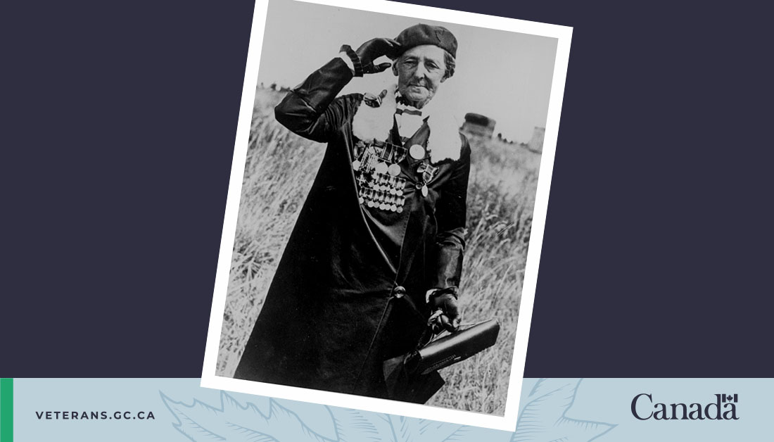 Charlotte Wood was named the first ever National Memorial (Silver) Cross Mother in 1936.  Woods had seven of her sons and stepsons serve in the First World War; two never came home.   Read more about her story and legacy:    #CanadaRemembers #IWD2021
