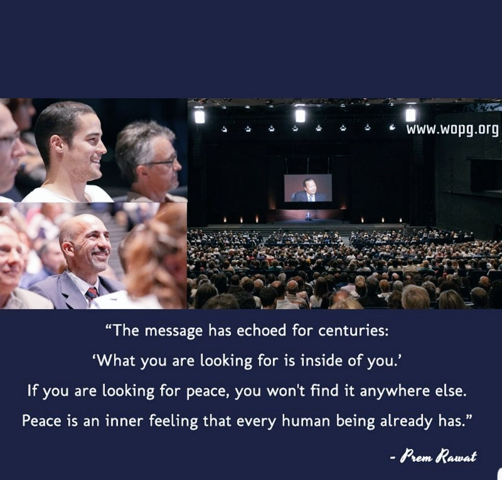 Prem Rawat   #PremRawat #timelesstoday #peaceispossible #peacemakers #wordsofpeace #inspirational #inspired #peaceiswithinyou #KnowThyself #wopg #peace #Happiness #humanity #goodness #fulfilment #joy #fun #messageofpeace #beautiful #life #Feelgood #quotes