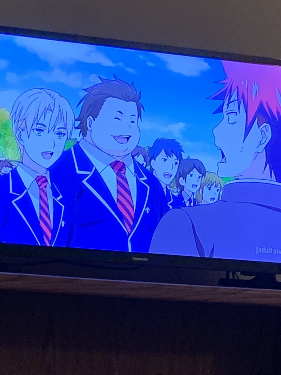 It's like when you forget the words to the national anthem  #foodwars #toonami