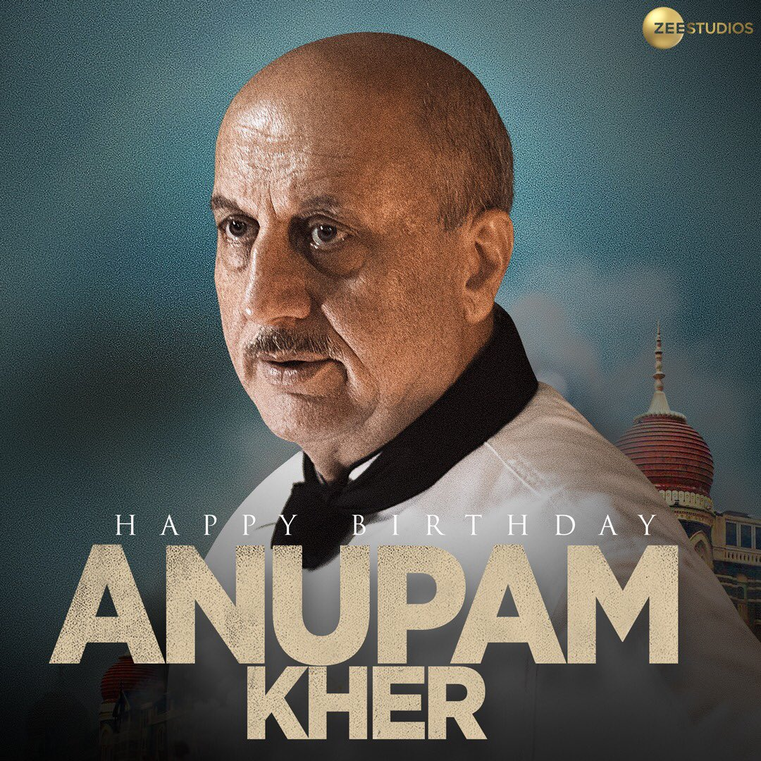 Wishing the magnificent actor who gave us a powerful performance in #HotelMumbai a Happy Birthday!  #HappyBirthdayAnupamKher @AnupamPKher
