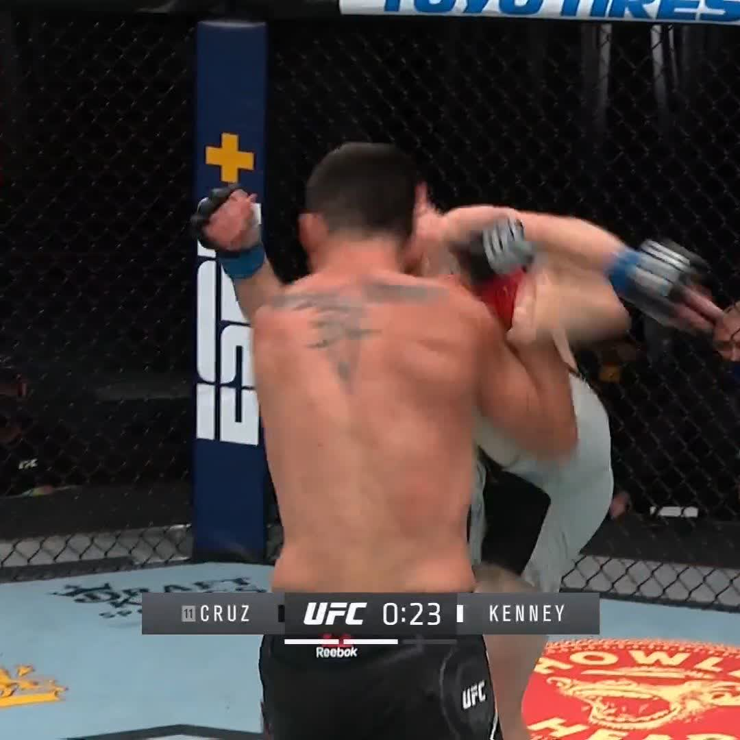 Old school vs. new school. 👨🏫  Cruz once again proving that ring rust is a non-factor! #UFC259 https://t.co/Yl6EjHP7VH