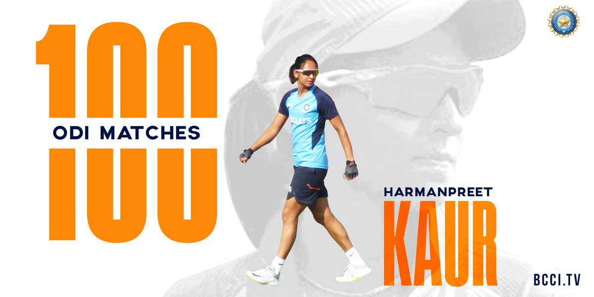 ODI number 1️⃣0️⃣0️⃣ 🇮🇳 👌  A special landmark for a fine cricketer! 🔝  Heartiest congratulations to @ImHarmanpreet 👏👏  @Paytm #TeamIndia #INDWvSAW
