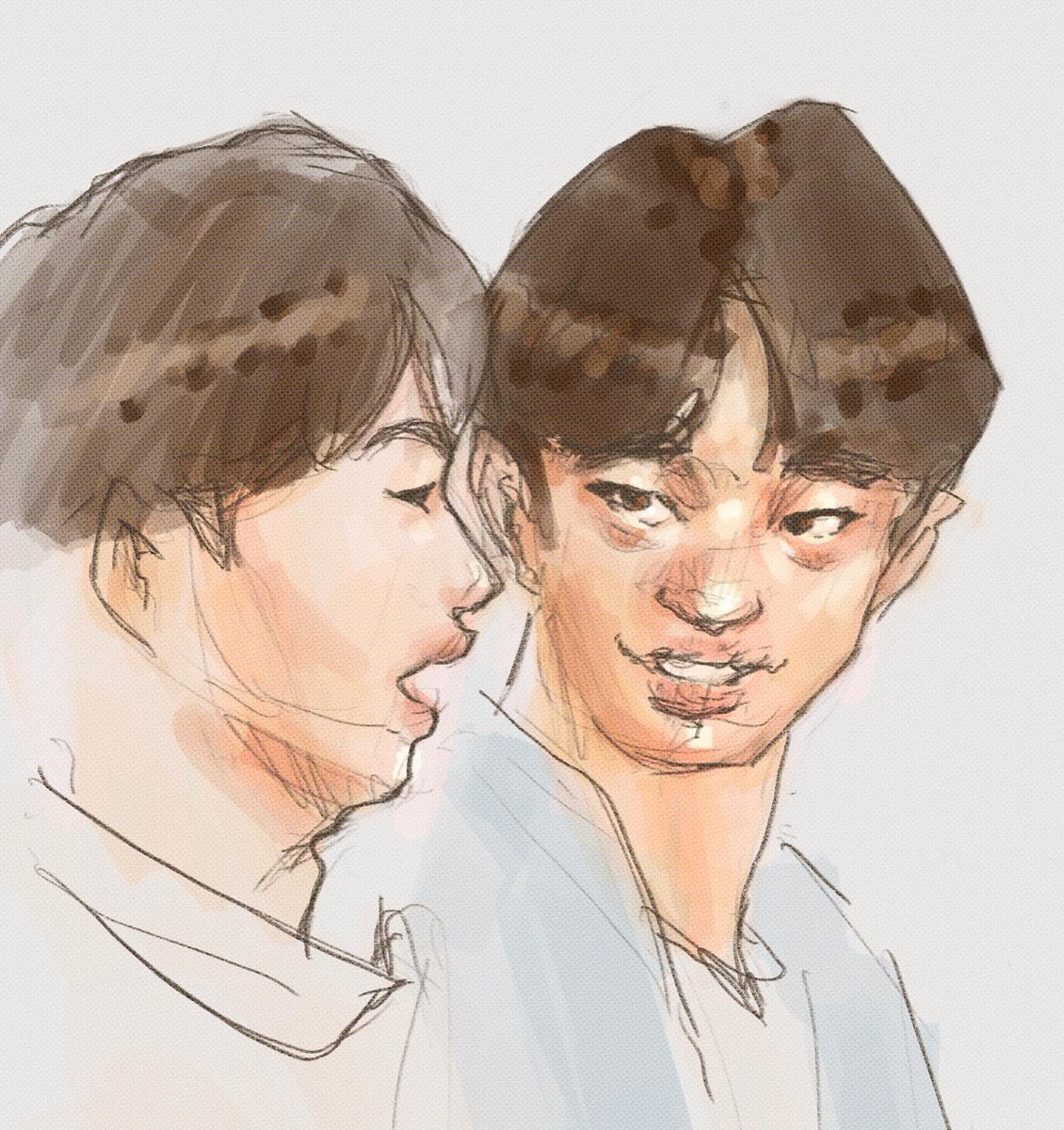 """didn't mean to disrespect felix and hyunjin like that 😢😢😓😓 A BIT OF AN EMBARAZZMENT, but it must be done to move forward and like, """"improve my art skills"""" or something. #skz #skzfanart #straykids #straykidsfanart #straykidsfelix #straykidshyunjin #kpopfanart"""