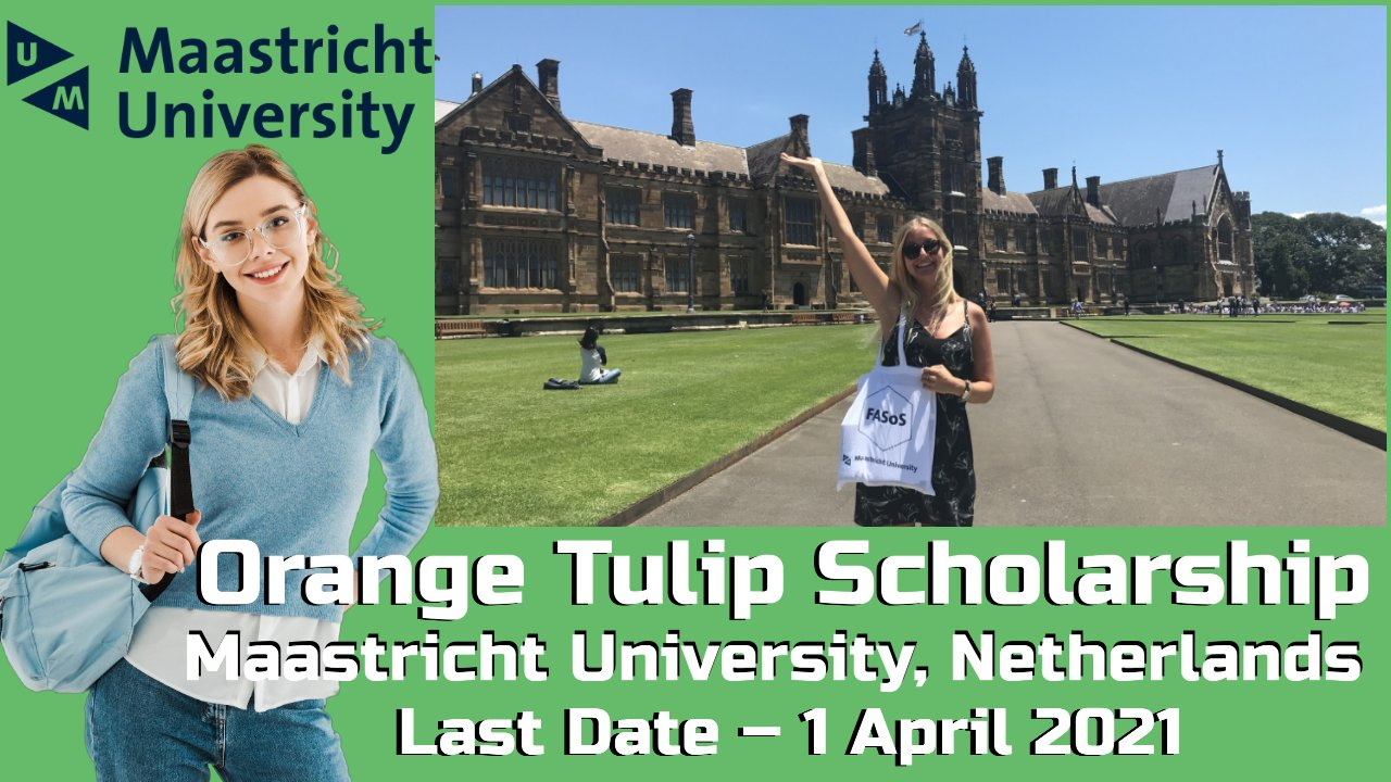 Orange Tulip Scholarship by Maastricht University, Netherlands