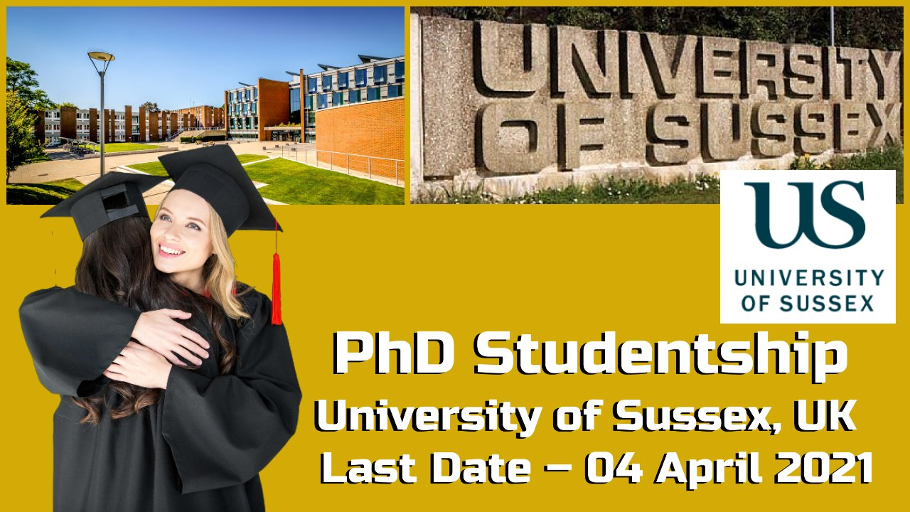 PhD Studentship 2021 at University of Sussex, United Kingdom