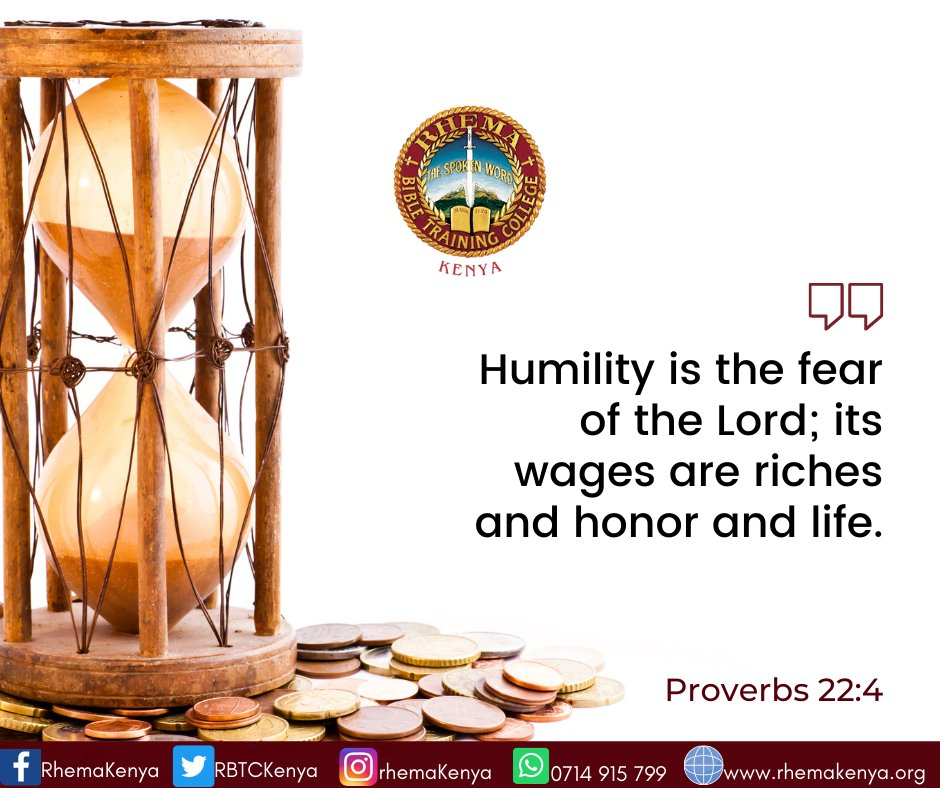 """#DailyInspiration """"Humility is the fear of the Lord; its wages are riches and honor and life.""""  Proverbs 22:4 #Sunday #SundayVibes #SundayThoughts"""