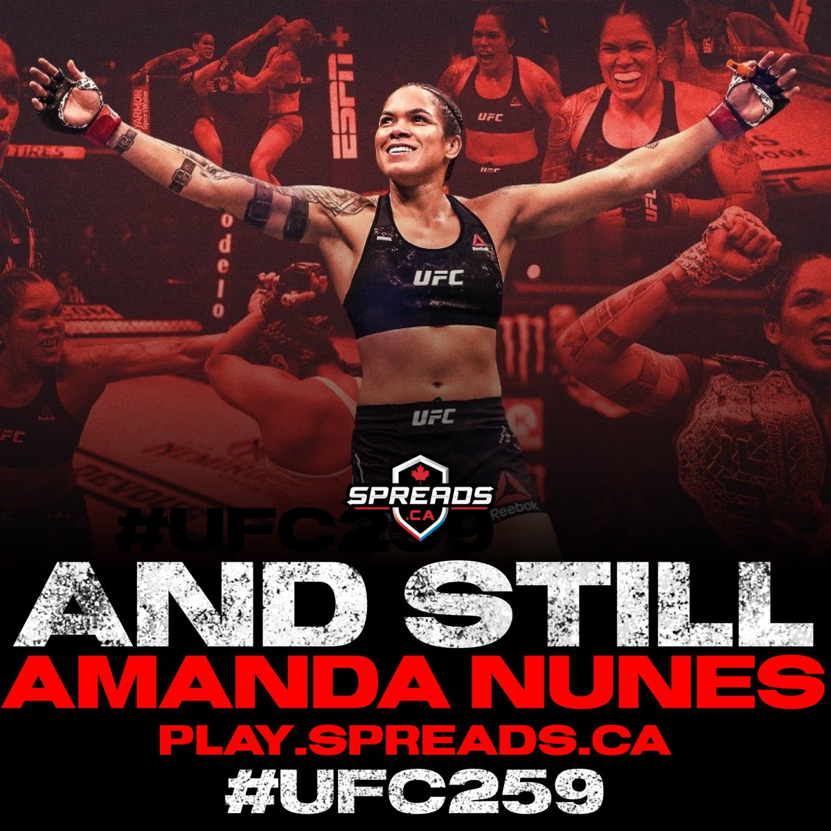 Baddest woman on the planet, @amanda_leoa #UFC259 🇧🇷  @stylebender vs @janblachowicz NEXT❗️  —  #ufc #ufcfightnight #mma #mmafighter #boxing #conormcgregor #ufcfighter #kickboxing #khabibnurmagomedov #mmatraining #fight #bjj #muaythai #ufcmoscow #ufcrussia #wrestling #bellator