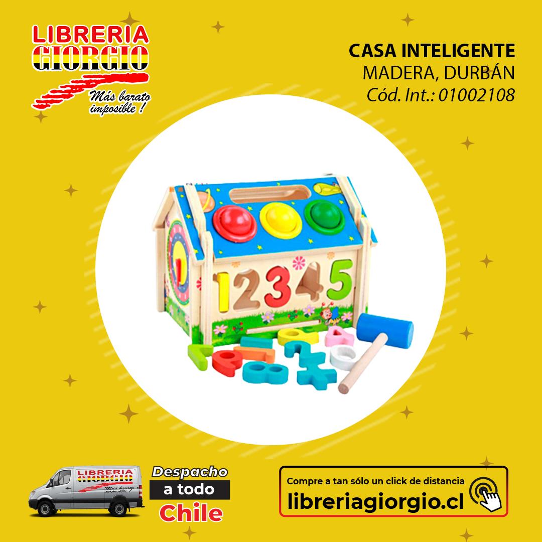 Visítenos en . COMPRE ONLINE seleccionando Librería Giorgio Camilo Henríquez, con despacho a domicilio a todo Chile 🚛🇨🇱 Compre en  #juego #casa #madera #inteligente #fun #instagood #beautiful #happy #cute #didácticos #style #smile