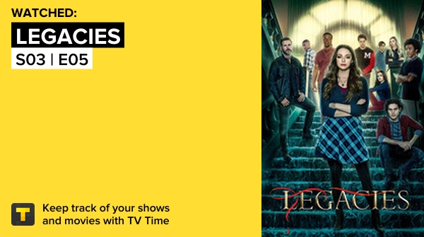 Acabei de assistir Legacies This Is What It Takes #legacies   #tvtime