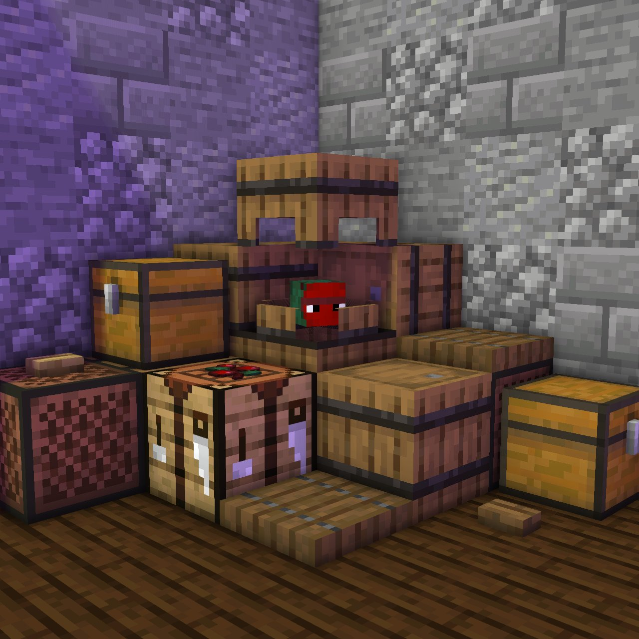 Barrel with Berries (Shulker) Minecraft Mob Skin