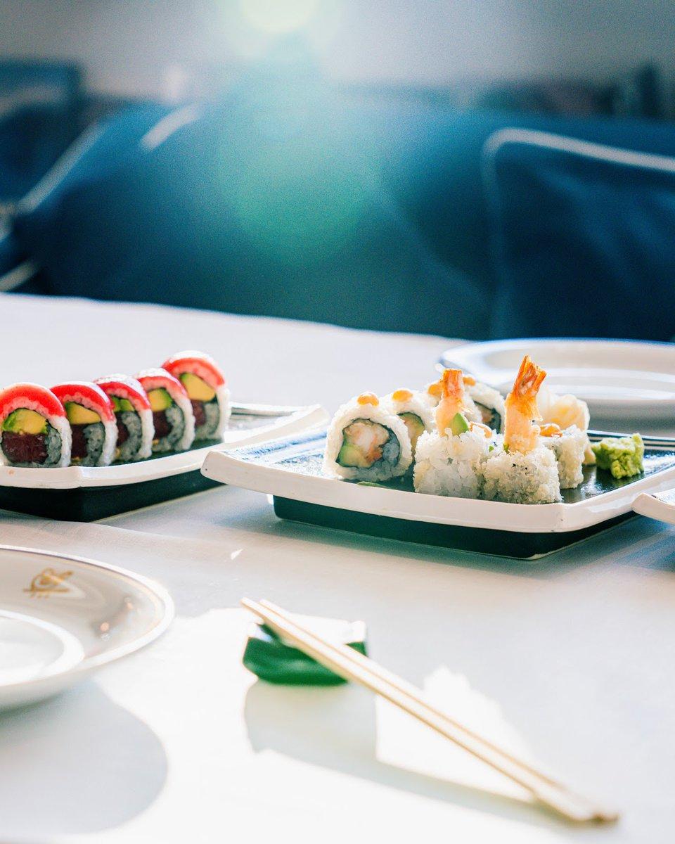 #YottoSushi is Art!  Create your perfect moment with our sushi rolls at #CiprianiYasIsland.  #YasMarinaAD #YasIsland #inAbuDhabi