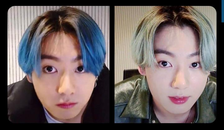He has even changed his hair colour again 😭😭😭And I didn't even know he came VLive till now😭💔 #JKLive