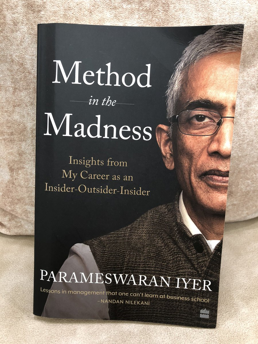 #MethodInTheMadness, an amazing book written by the former Secretary in-charge of the @swachhbharat Mission & my friend,@paramiyer_.In this he has shared behind-the-scenes stories from the mission & pro-tips from his diverse career for young professionals. Get your copy today! https://t.co/mgBuqpEIo5