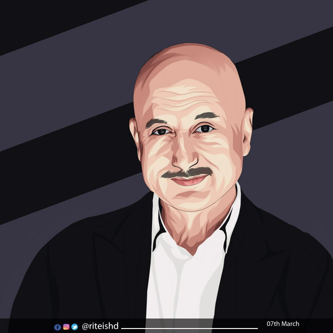 Happy Birthday My Favourite....  keep inspiring us with your work on screen and off screen. Love you - Jai Ho @AnupamPKher
