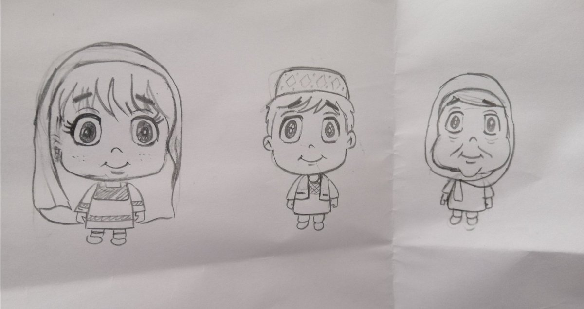 Our characters for final project  #AfghanDesignGirls #Design #Graphic #AfterEffect #project #finalProject #team_work @CodeToInspire  @Farahnaz786Art