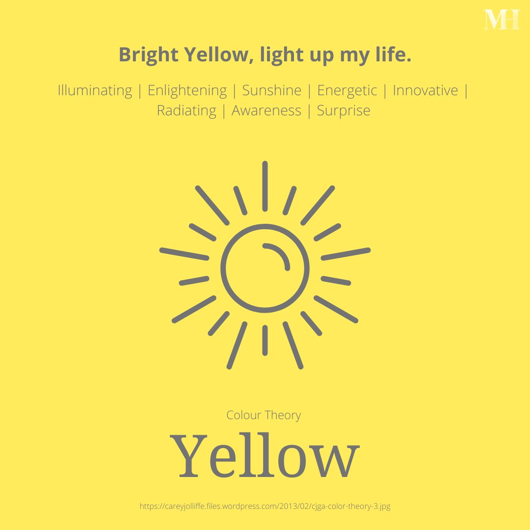 Colour Theory - Yellow  #Illuminating  #Enlightening  #Sunshine #Energetic  #Innovative  #Radiating  #Awareness #Surprise #Sun #Beach #Colour #Color #ColorTheory #Psychology #Design
