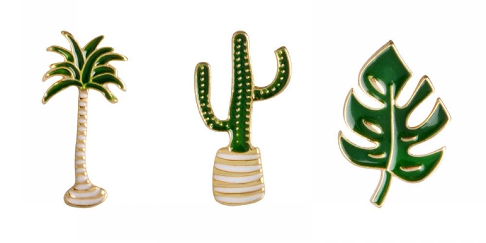 Tropical Greenery Pins  Find It Here:   $10.55  #giftsforher #giftsforhim #design #designer #designinspiration #diy #handmade #handmadejewelry  #lookoftheday #fashionblog