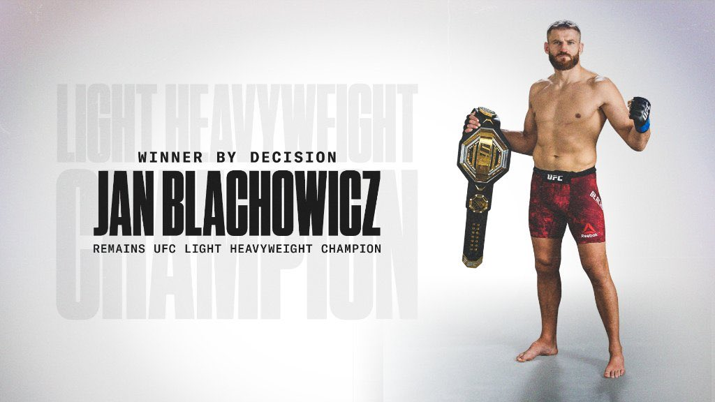 Jan Blachowicz hands Israel Adesanya his first career loss to remain the light heavyweight champ!#UFC259