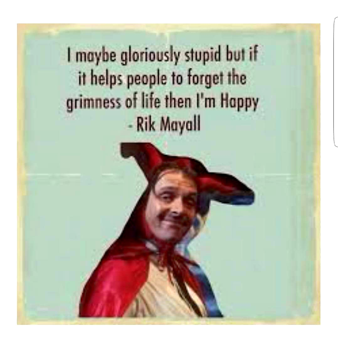 Replying to @Fibutton: He would have been 63 today, still very sadly missed... 😌 #RikMayall