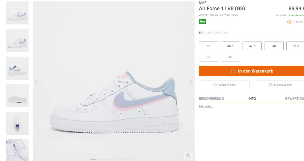 Live via Snipes: GS Nike Air Force 1