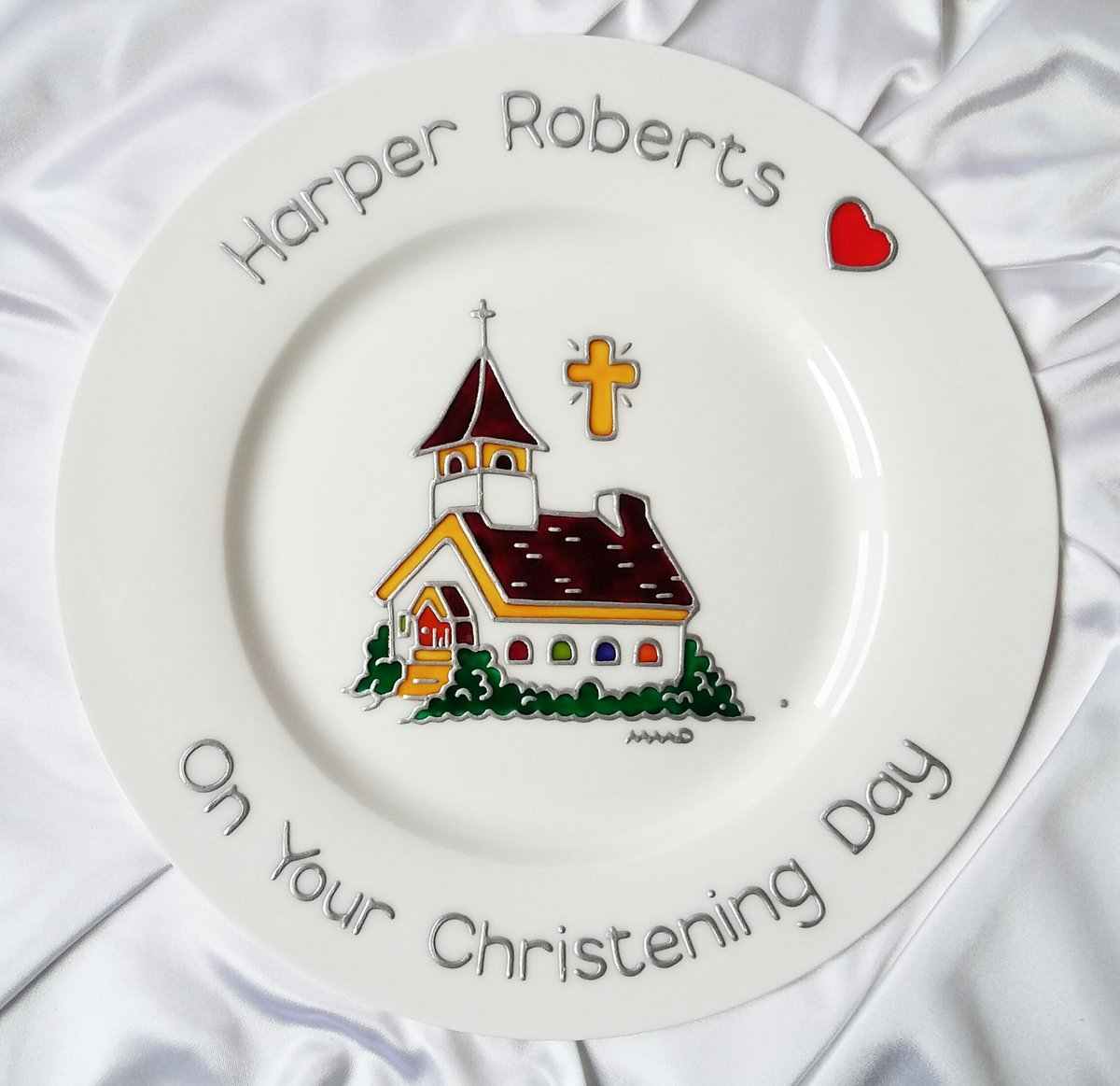 💒#MHHSBD #TheCraftersUK #christenings are possible again. You can begin to make plans. My #Church plate is a  unique #babygift 🎁  #craftbizparty #family #GodMorningSunday #namingday #UKGiftAM #baptism #CatholicTwitter #SundayService #religious #Christian