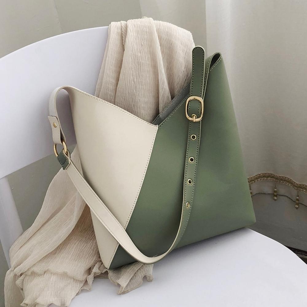 Women's Laconic Design Bucket Bag and Makeup Case Set #backpack #beachbag