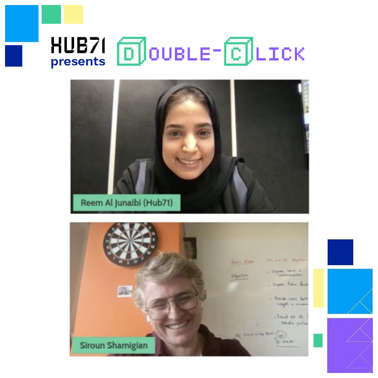 Recap the insightful discussion that took place between Siroun Shamigian of @KamKalima and our very own Reem Al Jnaibi, in our inaugural #DoubleClick session.    #Hub71 #inAbuDhabi