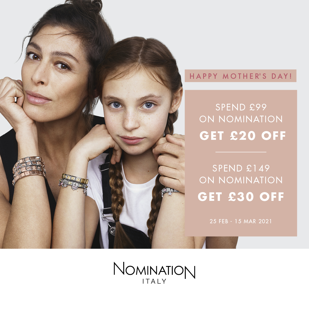 Have you got money off your Nomination order yet?   Spend £99 on Nomination and get £20 OFF  OR  Spend £149 on Nomination and get £30 OFF   Shop Nomination 👉  #Sundayfeeling #Sundaythoughts