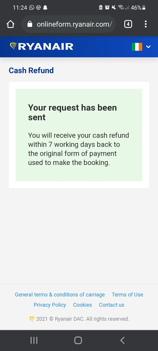 Hi @Ryanair, I asked a refund for the third time in one year. I hope it will be the last!