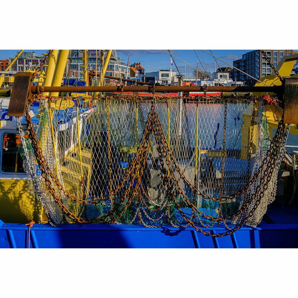 - - Netherlands - #blue #boat #chain #cold #day #daylight #DenHaag #dutch #evening #fishing #fishingnet #gear #harbour #iron #mooring #net #netal #Netherlands #ocean #rope #rust #Scheveningen #sea #seascape #ship #sky #sunshine #thisisthehague #water #ye…