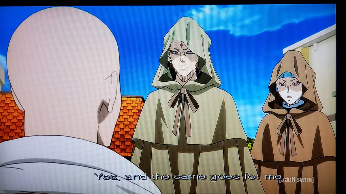 .@JMichaelTatum Julius sends Marx, Fuegoleon, and Nozel to investigate reports of bandits at Arandom Village in the Forsaken Lands since the Midnight Sun destroyed them💥We're on episode 141 on #Toonami next week #BlackClover