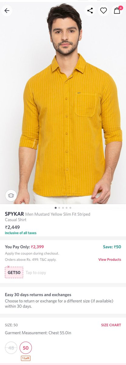 @myntra @MyntraSupport Is this the same shirt Size 50 returned TWICE as defective and with a hole or repaired by you and passed your 10 STEP QUALITY CHECK ???? @jagograhakjago #quote #CustomerExperience #customerservice #mondaythoughts #fashion #fashionblogger #blogger #college
