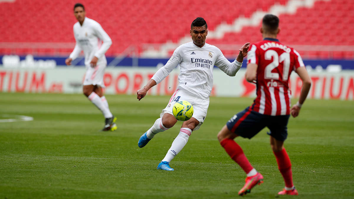 2️⃣💪 Back for the second half! VAMOS REAL!  👉 @atletienglish 1-0 @realmadriden ⚽ Luis Suárez 15' - 📱  🖥  #AtletiRealMadrid