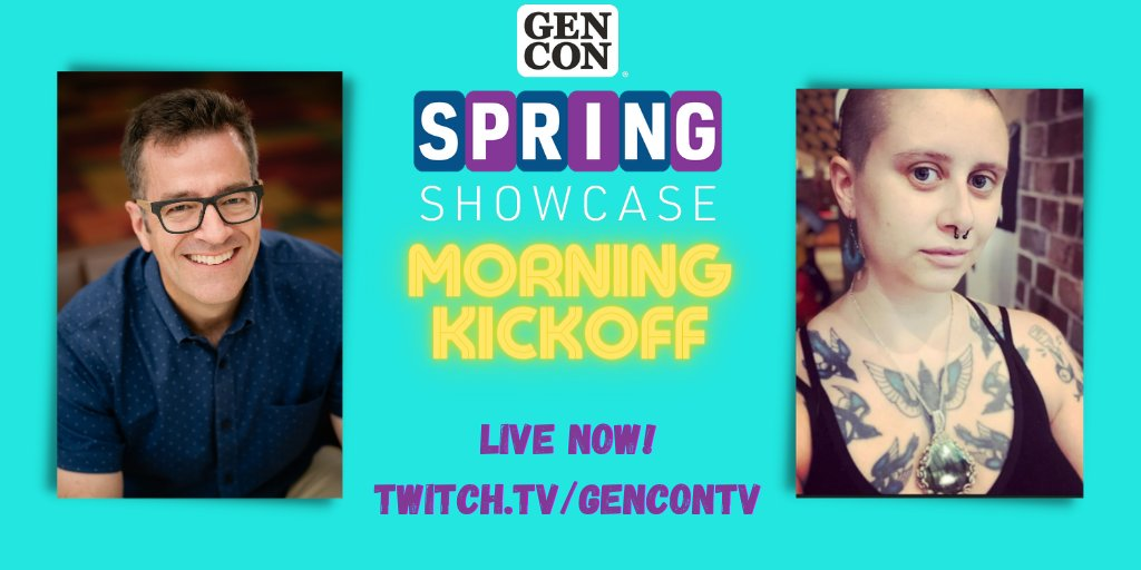 test Twitter Media - 📣  GOOOOOOD MORNING, GEN CON! 📣 CEO David Hoppe and Community Manager Kelsey Desrosiers are BACK for another Morning Kick-Off! Find out what's in store for Spring Showcase today! Come watch at https://t.co/8dkTm8DNSf https://t.co/64xrGF2yUz